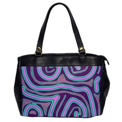 Purple lines Office Handbags