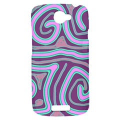 Purple lines HTC One S Hardshell Case