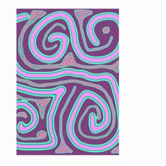 Purple lines Large Garden Flag (Two Sides)