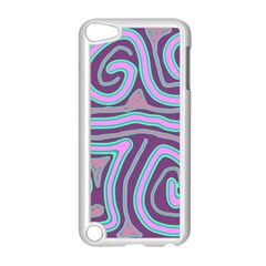 Purple lines Apple iPod Touch 5 Case (White)