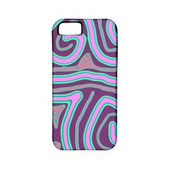 Purple lines Apple iPhone 5 Classic Hardshell Case (PC+Silicone)