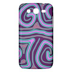 Purple lines Samsung Galaxy Mega 5.8 I9152 Hardshell Case