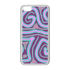 Purple lines Apple iPhone 5C Seamless Case (White)