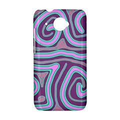 Purple lines HTC Desire 601 Hardshell Case