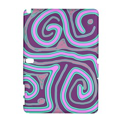 Purple lines Samsung Galaxy Note 10.1 (P600) Hardshell Case