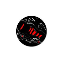 Black and red artistic abstraction Golf Ball Marker (10 pack)