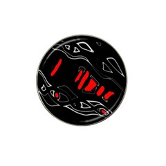 Black and red artistic abstraction Hat Clip Ball Marker (4 pack)
