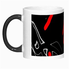 Black and red artistic abstraction Morph Mugs