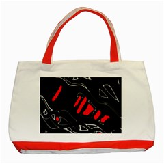 Black and red artistic abstraction Classic Tote Bag (Red)