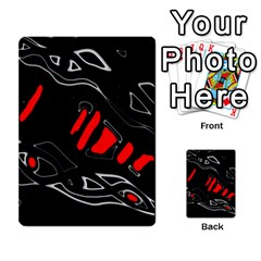 Black and red artistic abstraction Multi-purpose Cards (Rectangle)