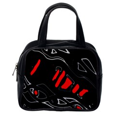 Black and red artistic abstraction Classic Handbags (One Side)