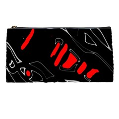 Black and red artistic abstraction Pencil Cases