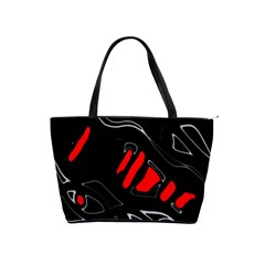 Black and red artistic abstraction Shoulder Handbags