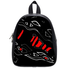 Black and red artistic abstraction School Bags (Small)