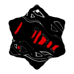 Black and red artistic abstraction Ornament (Snowflake)