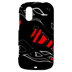 Black and red artistic abstraction HTC Amaze 4G Hardshell Case