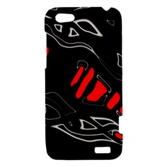 Black and red artistic abstraction HTC One V Hardshell Case