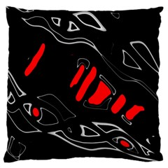 Black and red artistic abstraction Large Cushion Case (Two Sides)