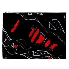 Black and red artistic abstraction Cosmetic Bag (XXL)