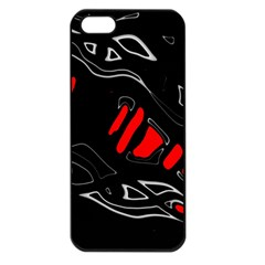 Black and red artistic abstraction Apple iPhone 5 Seamless Case (Black)