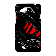 Black and red artistic abstraction HTC Desire VC (T328D) Hardshell Case