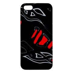 Black and red artistic abstraction Apple iPhone 5 Premium Hardshell Case