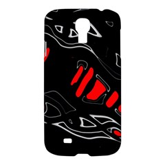 Black and red artistic abstraction Samsung Galaxy S4 I9500/I9505 Hardshell Case