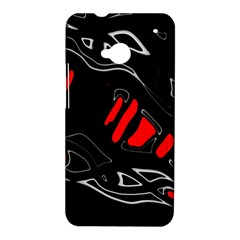 Black and red artistic abstraction HTC One M7 Hardshell Case