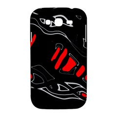 Black and red artistic abstraction Samsung Galaxy Grand DUOS I9082 Hardshell Case
