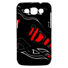 Black and red artistic abstraction Samsung Galaxy Win I8550 Hardshell Case