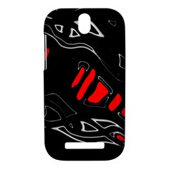 Black and red artistic abstraction HTC One SV Hardshell Case