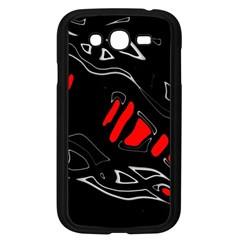 Black and red artistic abstraction Samsung Galaxy Grand DUOS I9082 Case (Black)