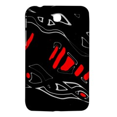 Black and red artistic abstraction Samsung Galaxy Tab 3 (7 ) P3200 Hardshell Case