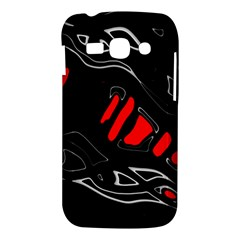 Black and red artistic abstraction Samsung Galaxy Ace 3 S7272 Hardshell Case