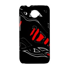 Black and red artistic abstraction HTC Desire 601 Hardshell Case