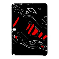 Black and red artistic abstraction Samsung Galaxy Tab Pro 10.1 Hardshell Case