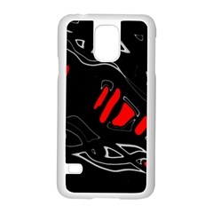 Black and red artistic abstraction Samsung Galaxy S5 Case (White)