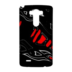 Black and red artistic abstraction LG G3 Hardshell Case