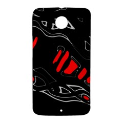 Black and red artistic abstraction Nexus 6 Case (White)