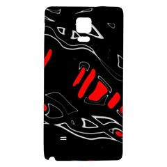 Black and red artistic abstraction Galaxy Note 4 Back Case