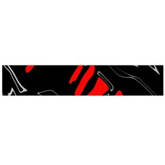 Black and red artistic abstraction Flano Scarf (Large)