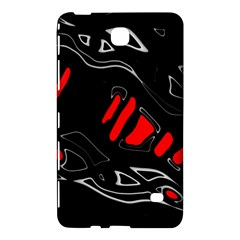 Black and red artistic abstraction Samsung Galaxy Tab 4 (7 ) Hardshell Case