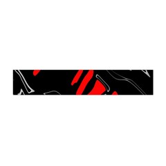 Black And Red Artistic Abstraction Flano Scarf (mini)
