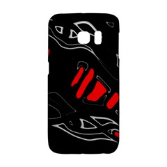 Black and red artistic abstraction Galaxy S6 Edge