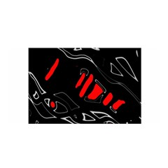 Black and red artistic abstraction Satin Wrap