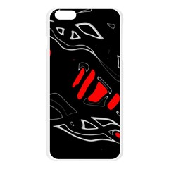 Black and red artistic abstraction Apple Seamless iPhone 6 Plus/6S Plus Case (Transparent)