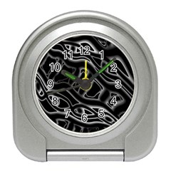 Black and white decorative design Travel Alarm Clocks