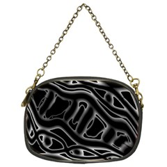 Black and white decorative design Chain Purses (One Side)