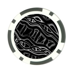Black and white decorative design Poker Chip Card Guards (10 pack)