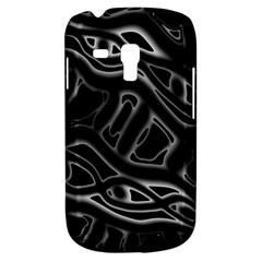 Black and white decorative design Samsung Galaxy S3 MINI I8190 Hardshell Case